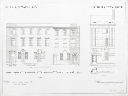 Nos. 7, 8 & 9 St. Mary's Row, No.15 Upper Dean Street