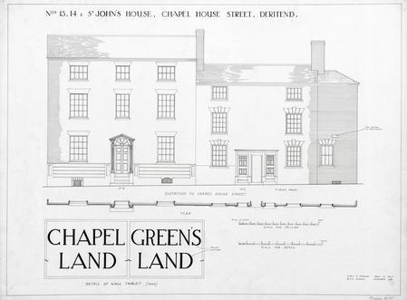 Nos 13, 14 & St John's House, Chapel House Street, Deritend